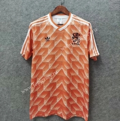 Retro Version 1988 Netherlands Home Orange Thailand Soccer Jersey AAA