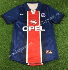 Retro Version 1998-1999 Paris SG Home Red& Blue Thailand Soccer Jersey AAA-503