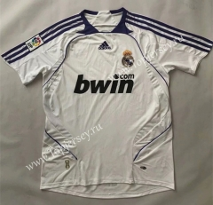 Retro Version 2007-2008 Real Madrid Home White Thailand Soccer Jersey AAA