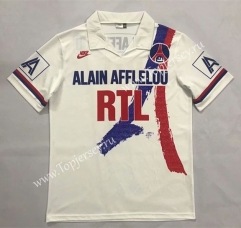 Retro Version 1990-1992 Paris SG White Thailand Soccer Jersey AAA