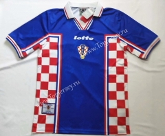 1998 Retro Version Croatia Red&Blue Thailand Soccer Jersey AAA-912