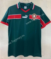 1998 Retro Version Morocco Home Green Thailand Soccer Jersey AAA-811