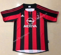 Retro Version 2003-2004 AC Milan Home Red&Black Thailand Soccer Jersey AAA-HR