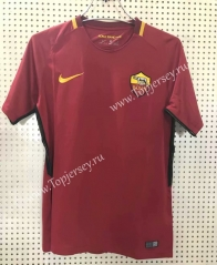 Retro Version 17-18 Roma Home Red Thailand Soccer Jersey AAA-811