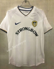 Retro Version 2000-2001 Leeds United Home White Thailand Soccer Jersey AAA-811