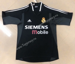 Retro Version 2004-2005 Real Madrid Away Black Thailand Soccer Jersey AAA-HR