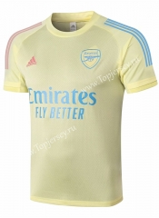 2020-2021 Arsenal Yellow Short-Sleeve Thailand Soccer Tracksuit Top-815