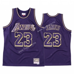 Commemorative Edition Los Angeles Lakers Purple #23 NBA Jersey