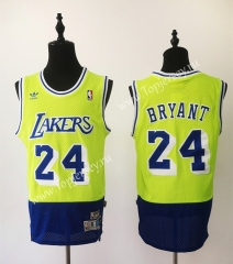 Retro Version Los Angeles Lakers Green&Camouflage Blue #24 NBA Jersey
