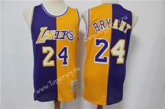 Retro Version Los Angeles Lakers Yellow&Purple #24 NBA Jersey