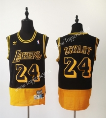 Retro Version Los Angeles Lakers Black&Yellow #24 NBA Jersey