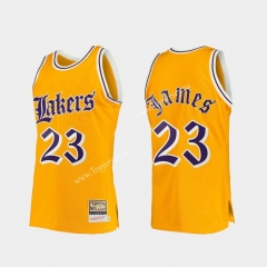 Retro Version Los Angeles Lakers Yellow #23 NBA Jersey