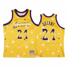 Starry Edition Los Angeles Lakers Yellow #24 NBA Jersey