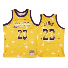 Starry Edition Los Angeles Lakers Yellow #23 NBA Jersey