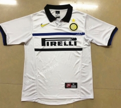 Retro Version 1998-1999 Inter Milan Away White Thailand Soccer Jersey AAA-HR