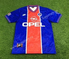 Retro Version 1995-1996 Paris SG Home Red& Blue Thailand Soccer Jersey AAA-503