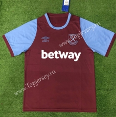 125 Anniversary Commemorative Edition West Ham United Home Dark Red Thailand Soccer Jersey AAA-403
