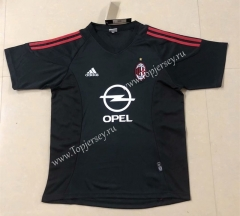 Retro Version 2002-2003 AC Milan Away Black Thailand Soccer Jersey AAA-HR