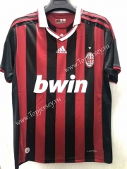 Retro Version 2009 AC Milan Home Red&Black Thailand Soccer Jersey AAA