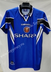 Retro Version 1996-1997 Manchester United Blue Thailand Soccer Jersey AAA