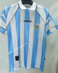 Retro Version 1996 Argentina Home Blue and White Thailand Soccer Jersey AAA