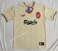 Retro Version 1996-1997 Liverpool Away Yellow Thailand Soccer Jersey AAA
