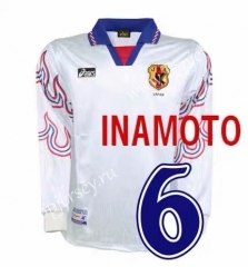 Retro Version 1996 Japan Away White LS Thailand Soccer Jersey AAA