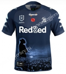 2021 Commemorative Edition Melbourne Dark Blue Thailand Rugby Jersey