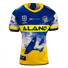 2021 Commemorative Edition Manna Fish Blue&Yellow Thailand Rugby Shirt