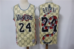 Joint Limited Version Los Angeles Lakers Yellow #24 NBA Jersey