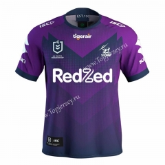 2021 Melbourne Home Purple Thailand Rugby Jersey
