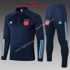 2020-2021 Ajax Royal Blue Kids/Youth Soccer Tracksuit-815