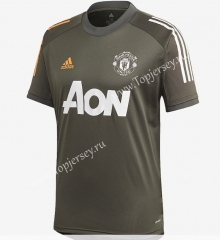 2020-2021 Manchester United Gray Thailand Training Jersey AAA