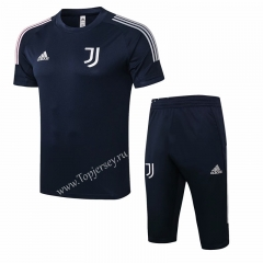 2020-2021 Juventus Royal Blue Short-sleeved Thailand Soccer Tracksuit-815