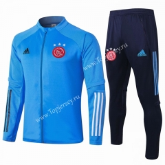 2020-2021 Ajax Light Blue Thailand Soccer Jacket Uniform-815