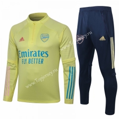 2020-2021 Arsenal Yellow Thailand Soccer Tracksuit-815