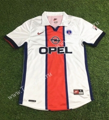 Retro Version 1998-1999 Paris SG Away White Thailand Soccer Jersey AAA-503