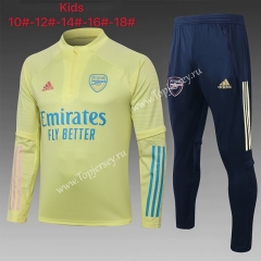 2020-2021 Arsenal Yellow Kids/Youth Soccer Tracksuit-815