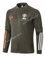 2020-2021 Manchester United Army Green Thailand Soccer Jacket-815