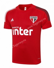 2020-2021 Sao Paulo Futebol Clube Red Short Sleeve Thailand Soccer Tracksuit Top-815
