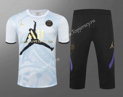 2020-2021 Jordan Paris SG White Thailand Training Soccer Uniform AAA-418