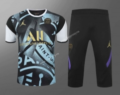 2020-2021 Jordan Paris SG Black&Blue Thailand Training Soccer Uniform AAA-418