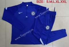 2020-2021 Chelsea Camouflage Blue Thailand Soccer Tracksuit-815