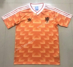 Retro Version 1988 Netherlands Home Orange Thailand Soccer Jersey AAA-908
