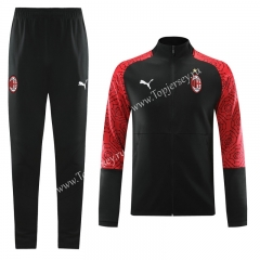 2020-2021 AC Milan Black Training Thailand Soccer Jacket Uniform-LH