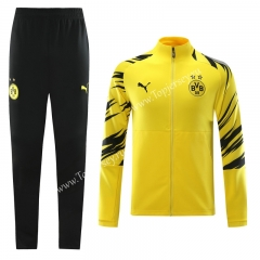 2020-2021 Borussia Dortmund Yellow Thailand Training Soccer Jacket Uniform-LH