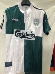 Retro Version 1995-1996 Liverpool White&Green Thailand Soccer Jersey AAA-905