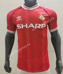Retro Version 1990-1992 Manchester United Home Red Thailand Soccer Jersey AAA-416