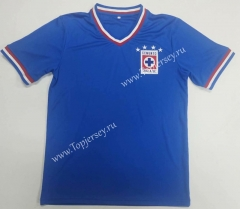 Retro Version 1974 Cruz Azul Home Blue Thailand Soccer Jersey AAA-912