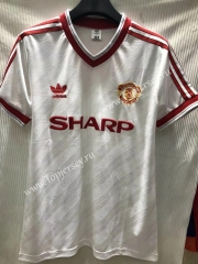 Retro Version 1986 Manchester United White Thailand Soccer Jersey AAA